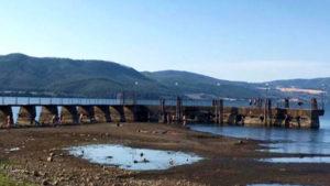 Lago di Bracciano, siccità luglio 2017