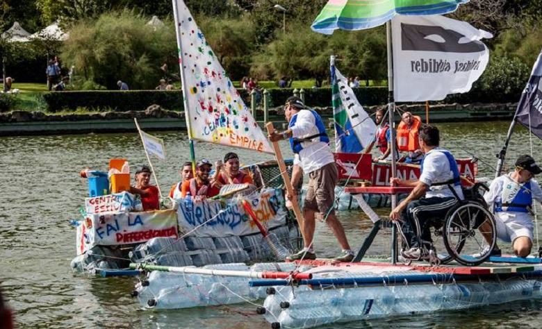 Al laghetto dell 39 eur una regata sulla plastica romasette for Laghetto plastica