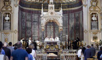 Cardinale Bassetti, Messa a Santa Cecilia in Trastevere, 11 luglio 2020
