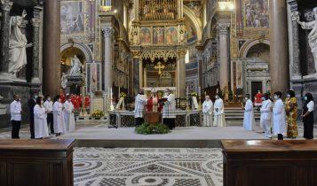 battesimo dei catecumeni appartenenti alle comunità internazionali di Roma, De Donatis, 29 giugno 2020