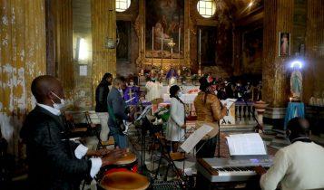 Messa della comunità congolese per Attanasio, Chiesa della Natività di NSGC degli Agonizzanti, 28 febbraio 2021