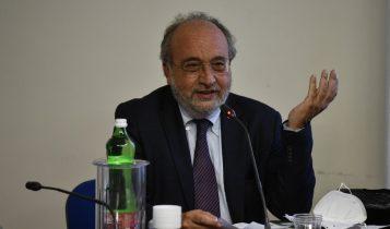 Giuseppe Giulietti. Conferenza stampa nella sede FNSI a 7 anni dalla scomparsa di padre Dall'Oglio, 29 luglio 2020