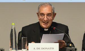 Angelo De Donatis, presentazione autobiografia Elio Sgreccia, Università Cattolica, 30 gennaio 2020