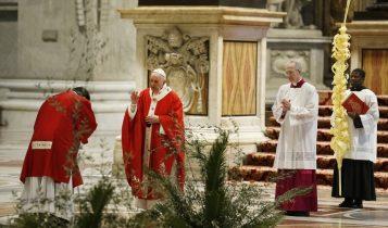 domenica delle palme, papa francesco, san pietro, 5 aprile 2020