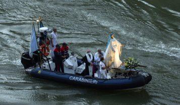 La Madonna Fiumarola in processione sul Tevere, Gianrico Ruzza, 26 luglio 2020