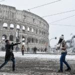 Neve a Roma, 26 febbraio 2018 Colosseo