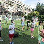 oratorio estivo parrocchia San Gaspare, bambini con mascherina, post-covid, 19 giugno 2020