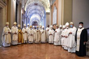 ordinazione episcopale don Benoni Ambarus, san Giovanni in Laterano, presbiterio, 2 maggio 2021