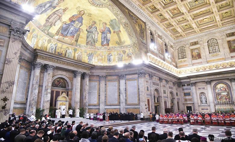 Papa ai secondi vespri, San Paolo fuori le mura