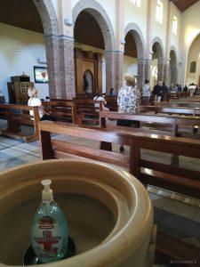prima messa con i fedeli post-coronavirus, parrocchia San Filippo Neri, fase 2, 18 maggio 2020