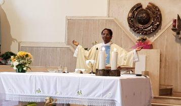 prima messa con i fedeli post-coronavirus, parrocchia di S.Maria Madre della Misericordia, fase 2, 18 maggio 2020