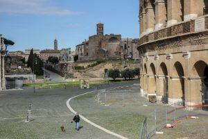 Coronavirus, Roma deserta, Colosseo
