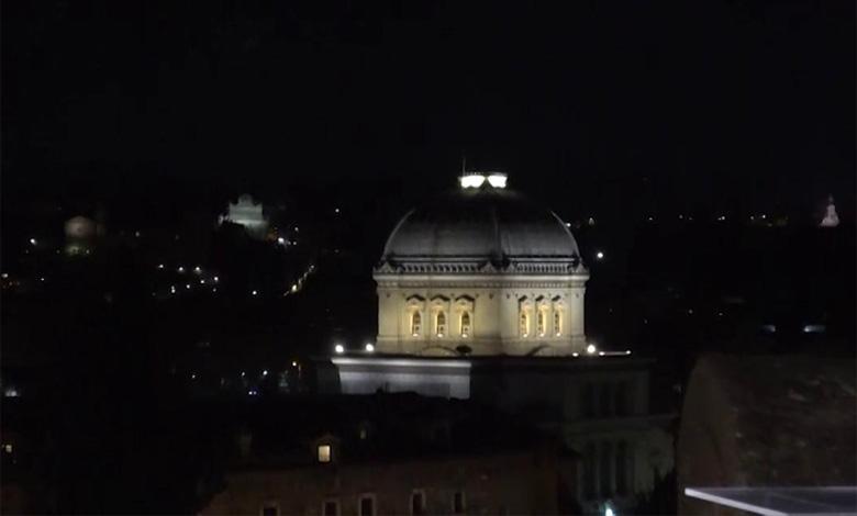 Nuova illuminazione per la sinagoga di roma romasette