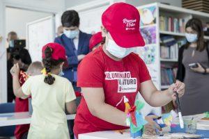 """Visita del ministro Speranza a """"Spazio Futuro"""", nel Punto Luce Save the Children a Torre Maura, 25 giugno 2020"""